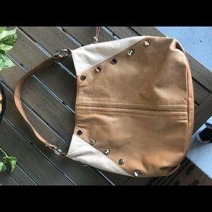 100% Genuine Leather B. Makowsky Tan Shoulder Bag